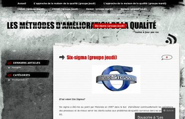 http://methodesqualite.wordpress.com/six-sigma-groupe-jeudi/