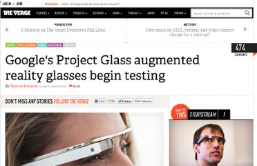 http://www.theverge.com/2012/4/4/2925237/googles-project-glass-augmented-reality-glasses-begin-testing
