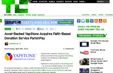 http://techcrunch.com/2012/04/04/yapstone-acquires-parishpay/
