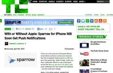 http://techcrunch.com/2012/04/04/with-or-without-apple-sparrow-for-iphone-will-soon-get-push-notifications/