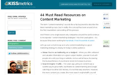 http://blog.kissmetrics.com/44-content-marketing-resources/