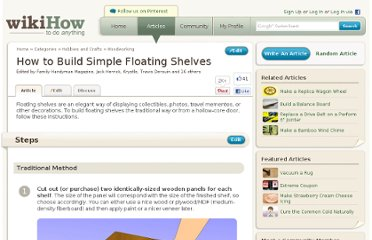http://www.wikihow.com/Build-Simple-Floating-Shelves