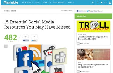 http://mashable.com/2010/03/27/social-media-resources-recap-2/