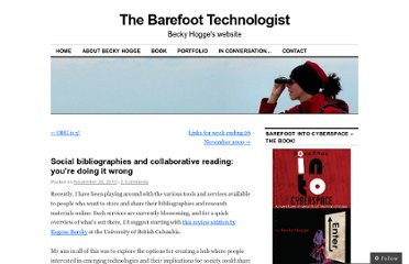 http://barefootintocyberspace.com/2010/11/24/social-bibliographies-and-collaborative-reading-youre-doing-it-wrong/