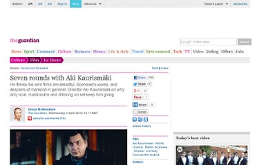 http://www.guardian.co.uk/film/2012/apr/04/aki-kaurismaki-le-havre-interview