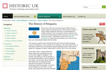 http://www.historic-uk.com/HistoryUK/HistoryofWales/The-History-of-Patagonia/