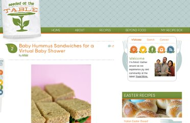 http://penniesonaplatter.com/2011/02/02/baby-hummus-sandwiches-for-a-virtual-baby-shower/