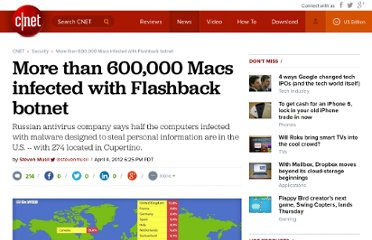 http://news.cnet.com/8301-1009_3-57409619-83/more-than-600000-macs-infected-with-flashback-botnet/