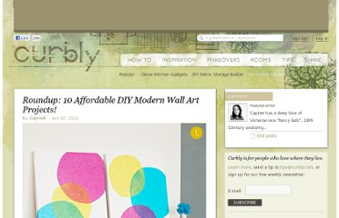 http://www.curbly.com/users/capreek/posts/13636-roundup-10-affordable-diy-modern-wall-art-projects