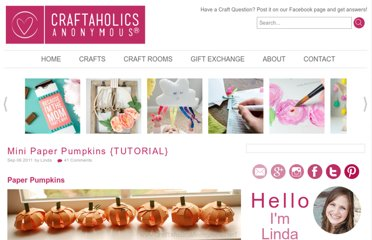 http://www.craftaholicsanonymous.net/mini-paper-pumpkins-tutorial