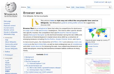 http://en.wikipedia.org/wiki/Browser_wars