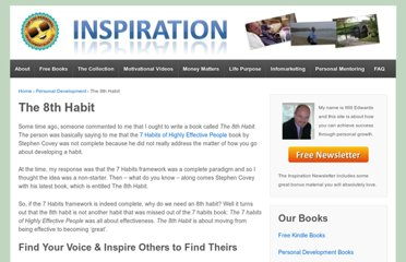 http://www.whitedovebooks.co.uk/7-habits/8th-habit.htm