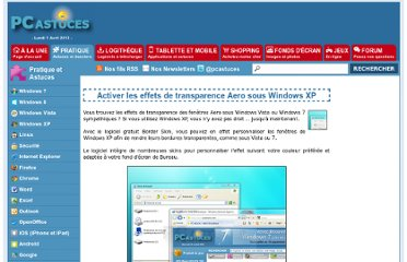 http://www.pcastuces.com/pratique/windows/aero_xp/page1.htm