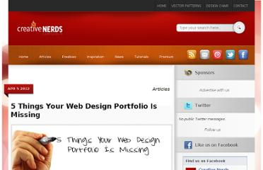 http://creativenerds.co.uk/articles/5-things-your-web-design-portfolio-is-missing/