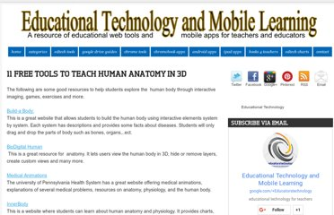 http://www.educatorstechnology.com/2012/04/11-free-tools-to-teach-human-anatomy-in.html
