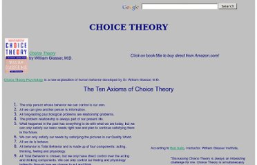 http://www.choicetheory.com/ct.htm