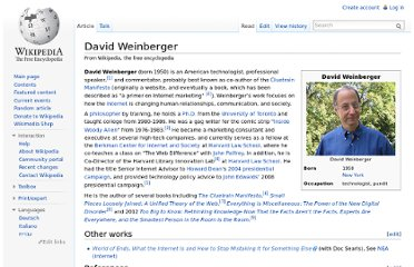 http://en.wikipedia.org/wiki/David_Weinberger