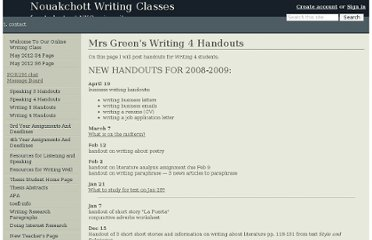 http://greenwriting.wikidot.com/mrs-green-s-writing-4-handouts