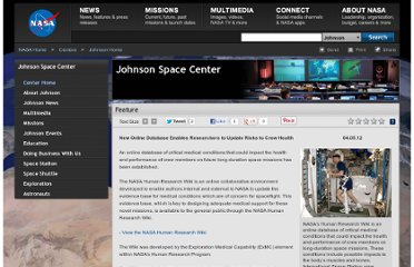 http://www.nasa.gov/centers/johnson/home/humanresearchwiki.html