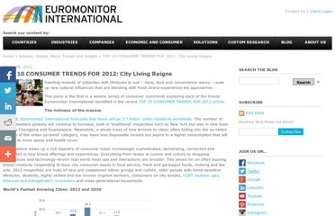 http://blog.euromonitor.com/2012/03/top-10-consumer-trends-for-2012-city-living-reigns.html
