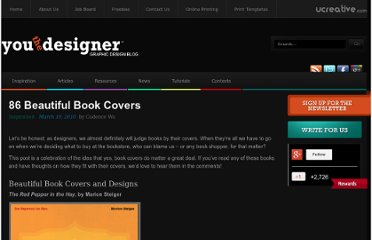 http://www.youthedesigner.com/2010/03/19/86-beautiful-book-covers/