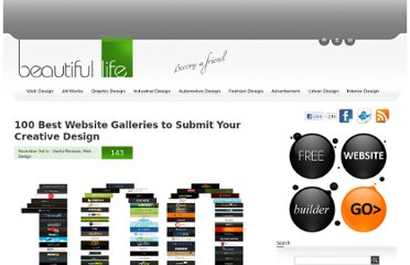 http://www.beautifullife.info/web-design/100-best-website-galleries-to-submit-your-creative-design/