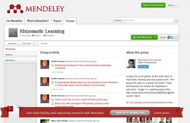http://www.mendeley.com/groups/2055423/rhizomatic-learning/