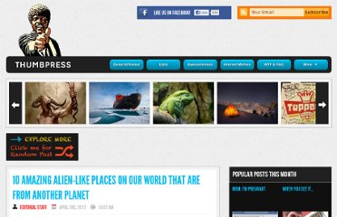 http://thumbpress.com/10-amazing-alien-like-places-on-our-world-that-are-from-another-planet/