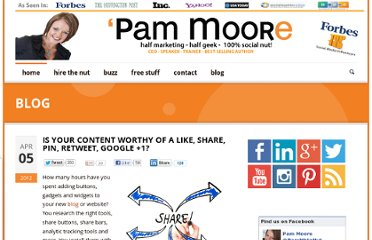 http://www.pammarketingnut.com/2012/04/is-your-content-worthy-of-a-like-share-pin-retweet-google-1/