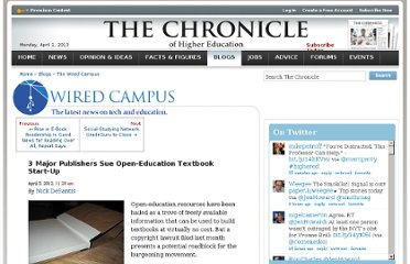 http://chronicle.com/blogs/wiredcampus/3-major-publishers-sue-open-education-textbook-start-up/35994