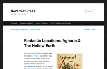 http://nevermetpress.com/fantastic-locations-agharta-the-hollow-earth#.T34Z7kbv7bF