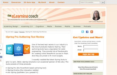 http://theelearningcoach.com/reviews/ispring-pro-review/
