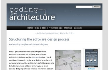 http://www.codingthearchitecture.com/2010/03/15/structuring_the_software_design_process.html