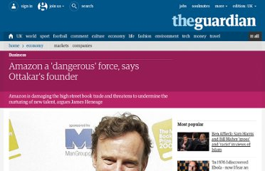 http://www.guardian.co.uk/business/2012/apr/05/amazon-dangerous-ottakar-james-heneage