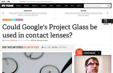 http://www.theverge.com/2012/4/4/2925292/google-project-glass-contact-lenses