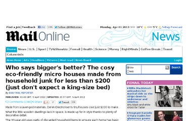 http://www.dailymail.co.uk/news/article-2125389/The-charming-200-micro-houses-junk.html