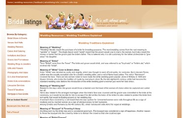 http://www.bridallistings.com/wedding_traditions_explained.htm