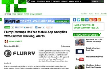 http://techcrunch.com/2012/04/06/flurry-revamps-its-free-mobile-app-analytics-with-more-custom-tracking-alerts/