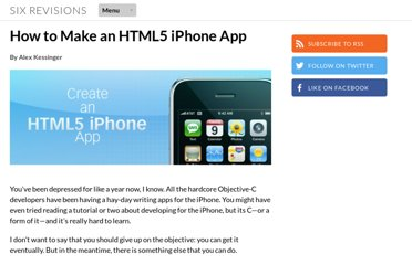 http://sixrevisions.com/web-development/html5-iphone-app/