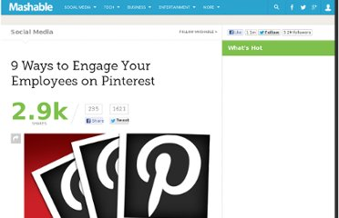 http://mashable.com/2012/04/06/pinterest-employee-engagement/