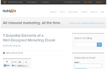 http://blog.hubspot.com/blog/tabid/6307/bid/32232/11-Essential-Elements-of-a-Well-Designed-Marketing-Ebook.aspx