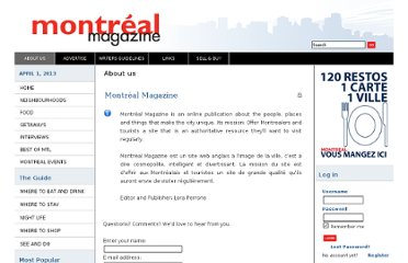 http://www.montrealmagazine.ca/MM/component/option,com_contact/task,view/contact_id,1/Itemid,9/