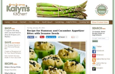 http://www.kalynskitchen.com/2011/01/recipe-for-hummus-and-cucumber.html