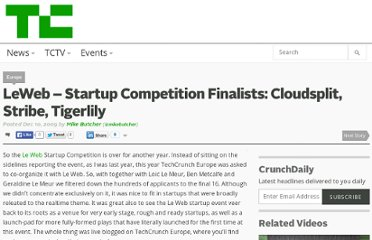 http://techcrunch.com/2009/12/10/leweb-startup-competition-finalists-cloudsplit-stribe-tigerlily/