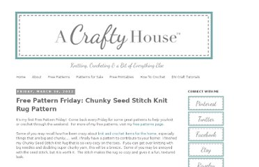http://www.acraftyhouse.com/2012/03/free-pattern-friday-chunky-seed-stitch.html