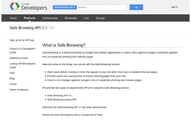 https://developers.google.com/safe-browsing/