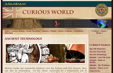 http://www.aquiziam.com/ancient-technology.html