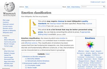 http://en.wikipedia.org/wiki/Emotion_classification