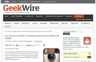 http://www.geekwire.com/2012/advanced-guide-instagram-build-brand/