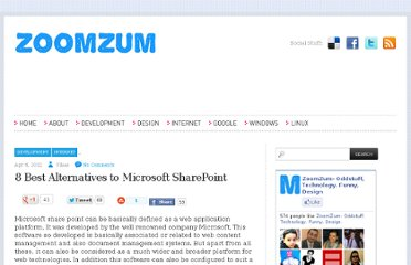 http://zoomzum.com/8-best-alternatives-to-microsoft-sharepoint/